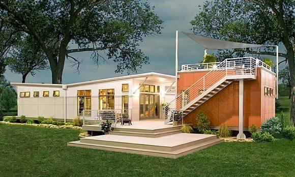 Prebuilt Green Modular Home Modern Prefab Homes