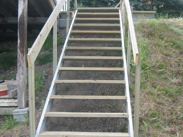 Prefab Outdoor Stairs Exterior Stair Stringersfast