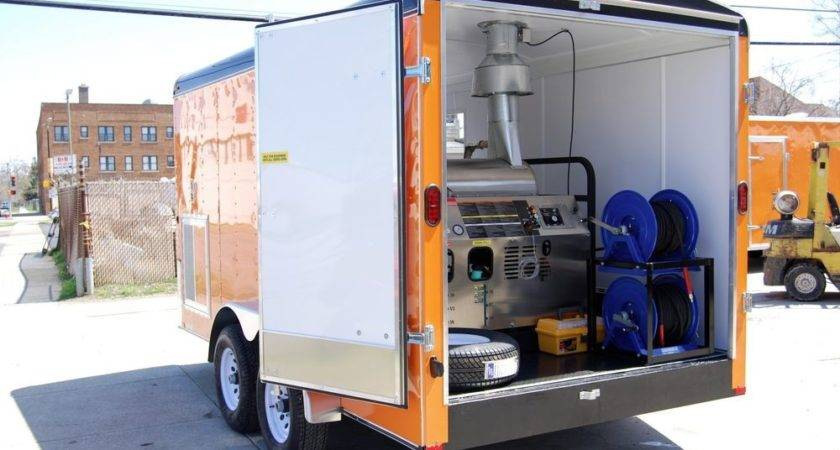 Pressure Washer Trailer Hot Cold Water Power
