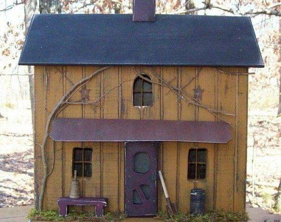 Primitive Birdhouse Farmhouse Rustic