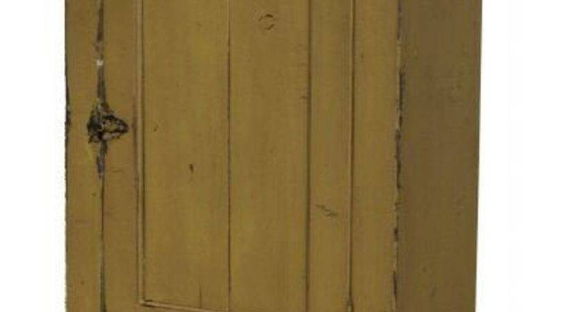 Primitive Country Painted Wall Cabinet Reproduction