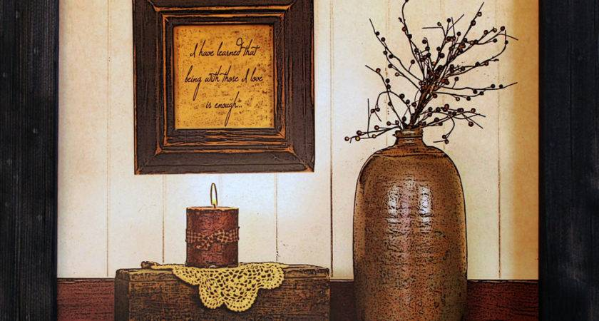 Primitive Country Wall Decor Inspirational