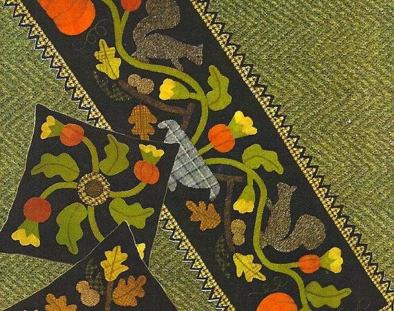 Primitive Folk Art Wool Applique Pattern Primfolkartshop