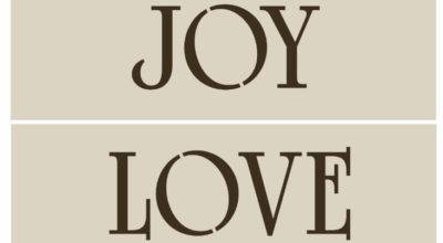 Primitive Hope Stencil Joy Love Peace Country Home