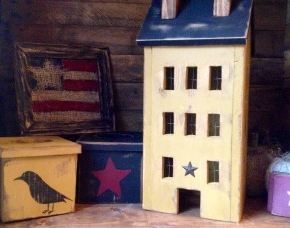 Primitive Made Order Saltbox House Oldelogcabin Etsy