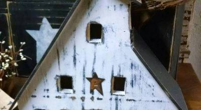 Primitive Wood Saltbox House Distressed Blacksquirrelprims