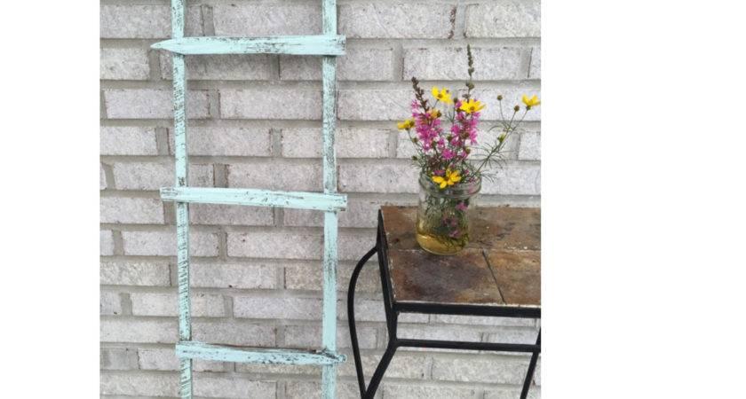 Primitive Wooden Garden Ladder Rustic Truevine