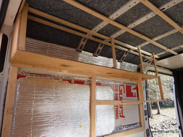Ram Promaster Camper Van Conversion Walls Ceiling