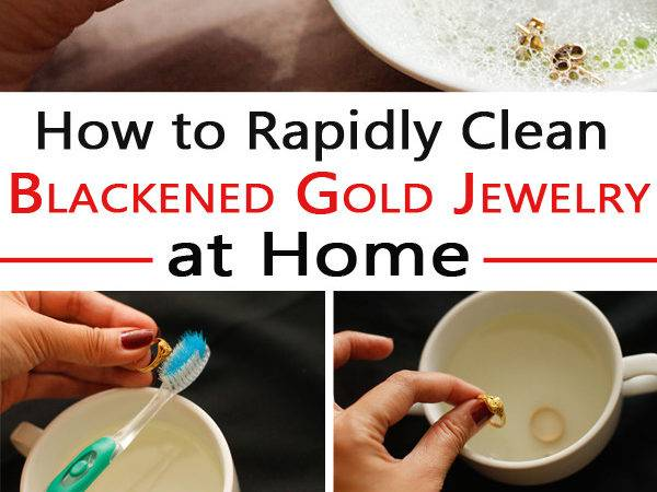Rapidly Clean Blackened Gold Jewelry Home