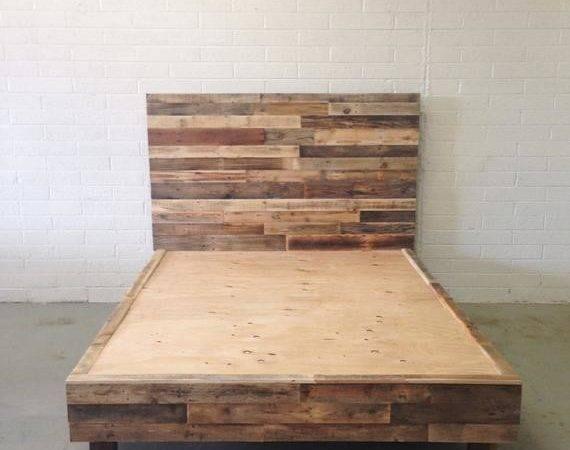 Reclaimed Wood Platform Bed Base Pallet Natural Twin