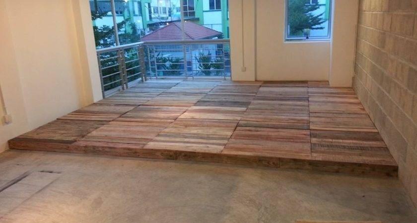 Recycled Pallet Flooring Diy Pallets Floors Home