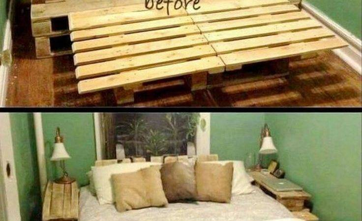 Recycled Wood Pallet Bed Ideas Pallets Beds