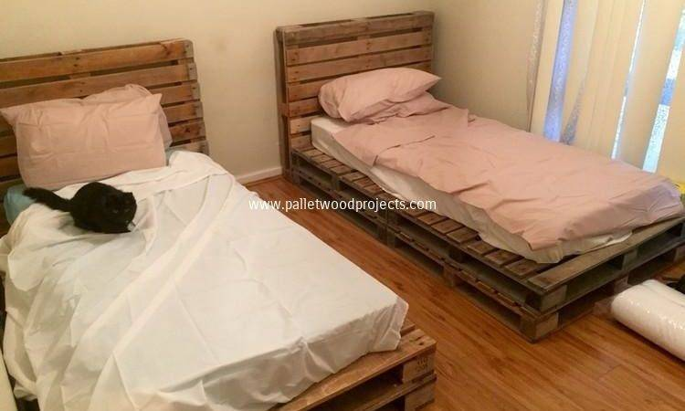 Recycled Wood Pallet Bed Ideas Projects