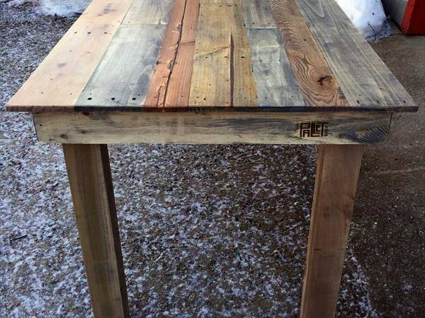 Recycled Wood Pallet Kitchen Table Furniture Plans