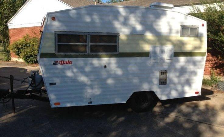 Red Dale Vintage Travel Trailer Camper Recently
