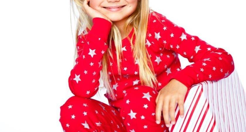 Red Silver Stars Long Sleeves Pajamas Holiday