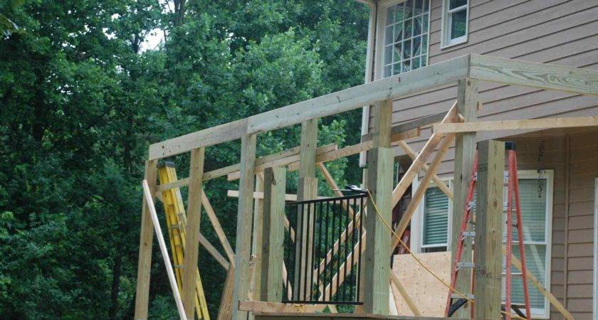 Rhpinterestcom Deck Roof Over Built Around