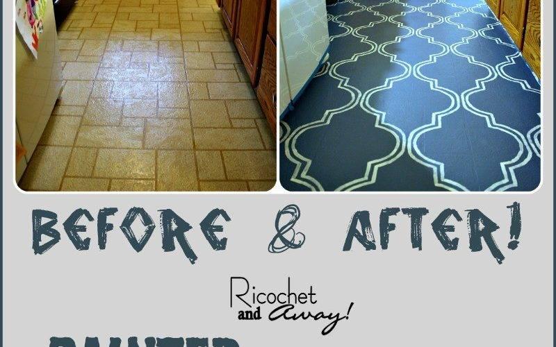 Ricochet Away Painted Vinyl Floor
