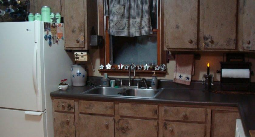 Roadtrip Treasures Finished Primitive Kitchen Cabinets