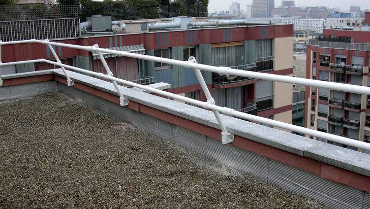 Roof Parapet Railing Mounting Directly