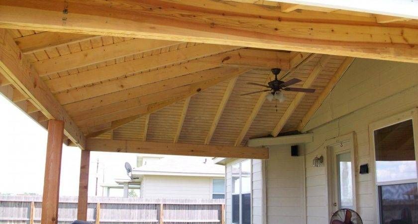 Roof Patio Designs Build Wood Awning