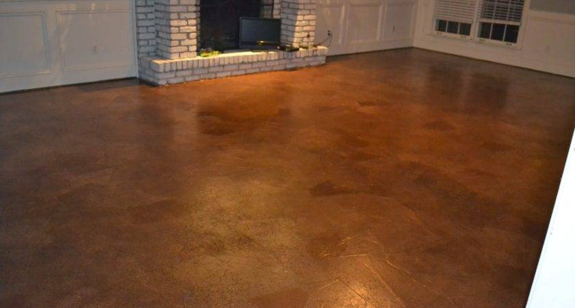 Ruby Bloom Brown Paper Bag Floor Over Concrete Subfloor