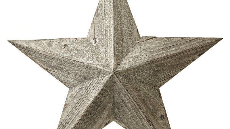 Rustic Distressed Wooden Lucky Amish Barn Star Ebay