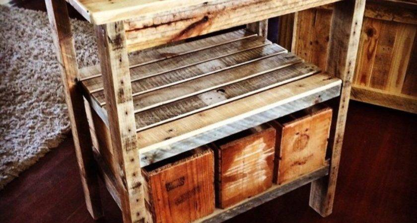 Rustic Pallet Kitchen Island Vintage Style Bushel