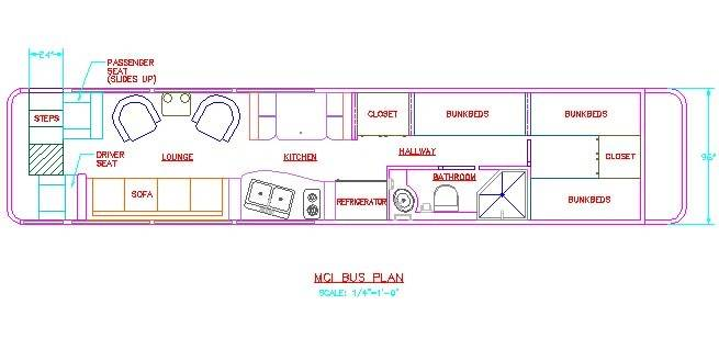 School Bus Conversion Floor Plans Toy Hauler