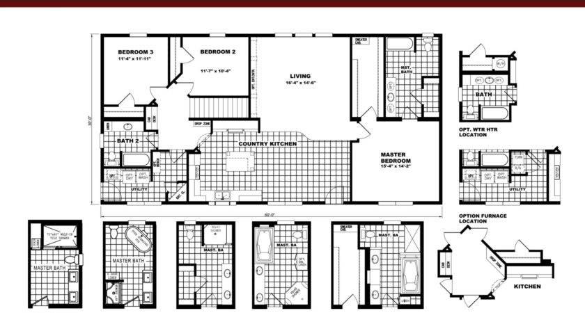 Schult Single Floor Plan Kitchen Island Oakwood