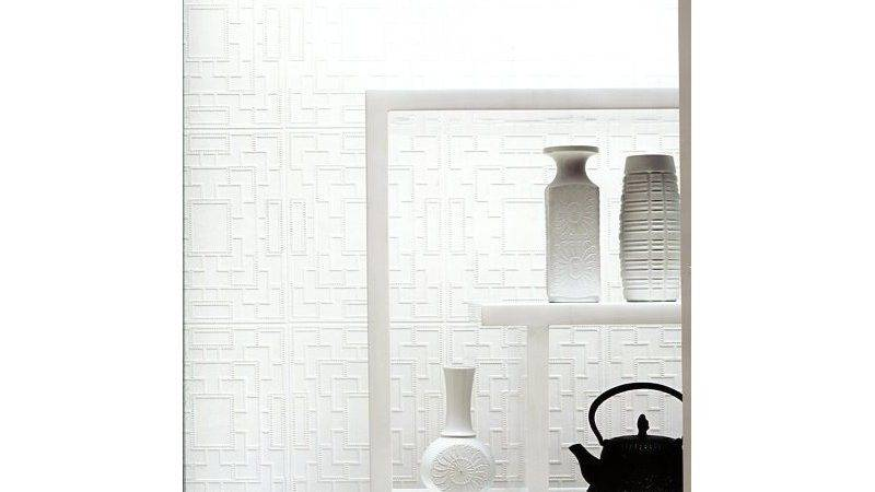 Screen Panel Paintable White Wall Paper