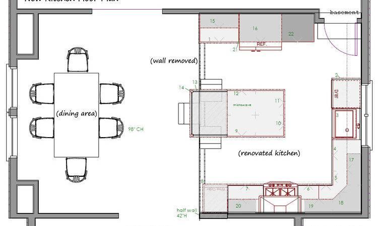 Shaped Kitchen Floor Plans Afreakatheart