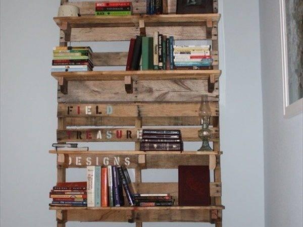 Shelves Made Out Pallets Pallet Bookshelf Stores
