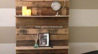Shelves Made Wood Pallets Pallet Projects