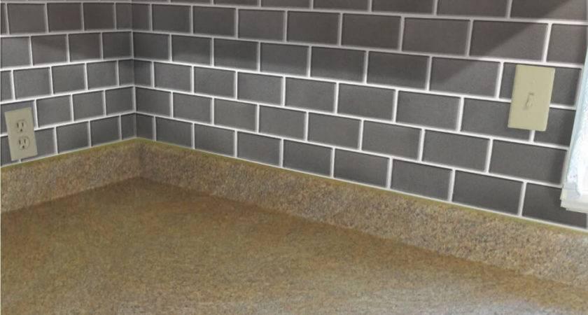 Simple Faux Tile Backsplash Cabinet Hardware Room
