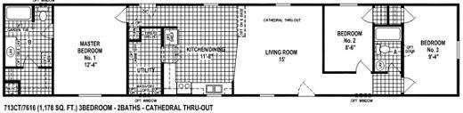 Single Wide Mobile Home Floor Plan Spring