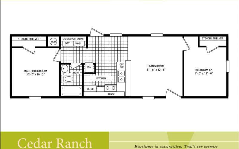 Single Wide Mobile Home Floor Plans Bedroom Scotbilt