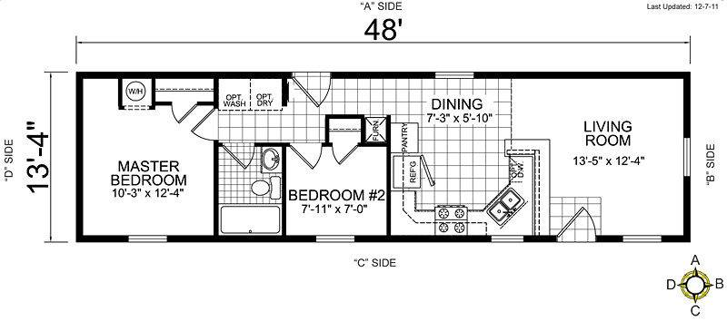 Single Wide Mobile Home Floor Plans Bedroom