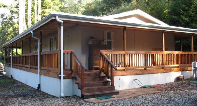 Single Wide Mobile Home Wrap Around Porch