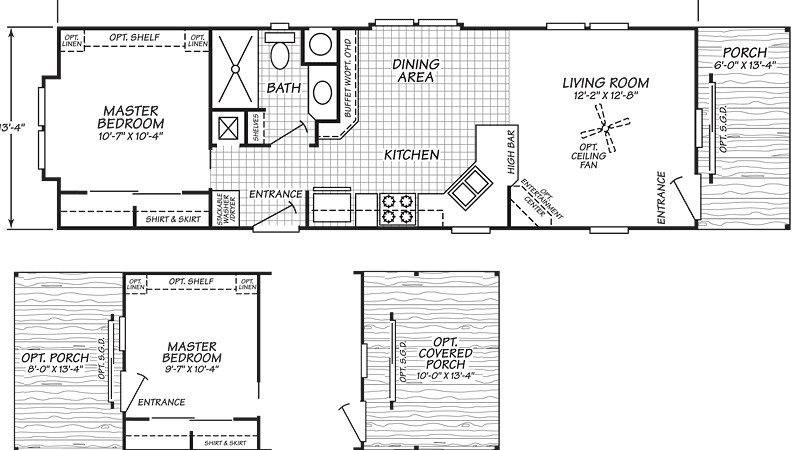 Single Wide Trailer Home Floor Plans Modern Modular