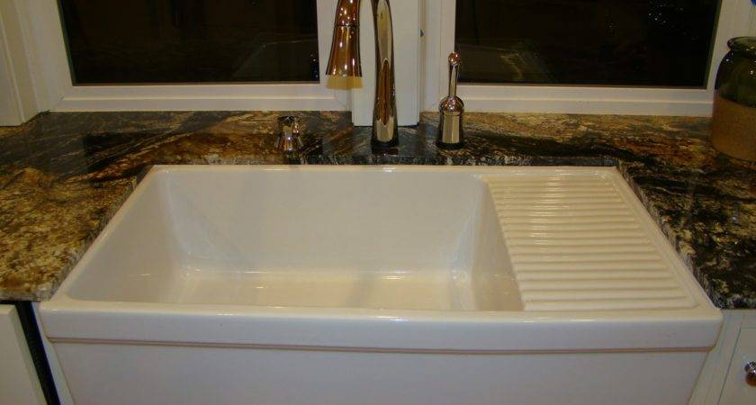 Sinks Interesting Farmhouse Sink Drainboard