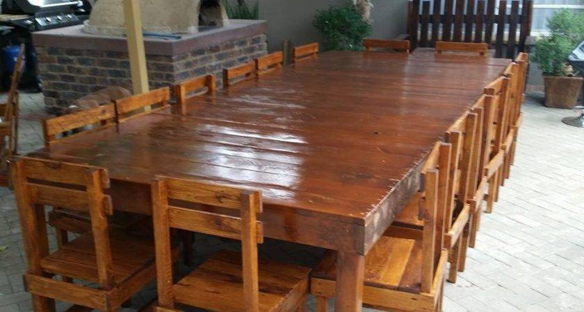Sixteen Seater Pallet Dining Table Furniture