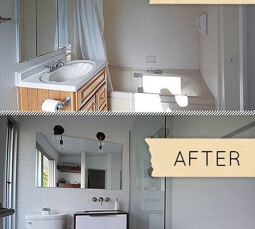 Small Modern Bathroom Remodel Before After