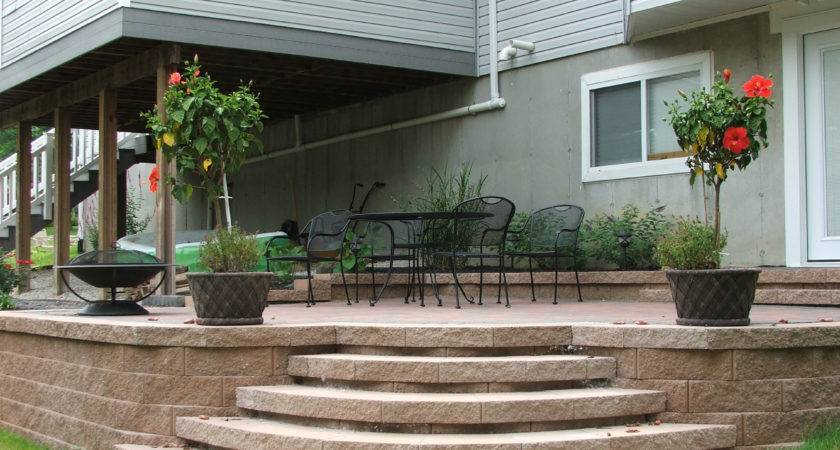 Small Paver Patio Rounded Edges