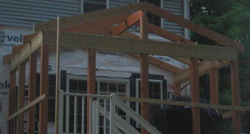 Small Porch Roof Framing Ideas