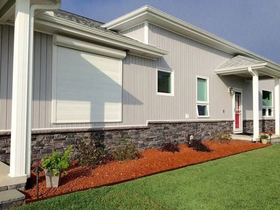 Stacked Stone Exterior Faux Siding