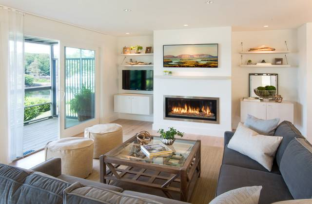 Stageneck Modern Beach Style Living Room Portland
