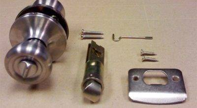 Stainless Steel Privacy Door Lock Set Mobile Home