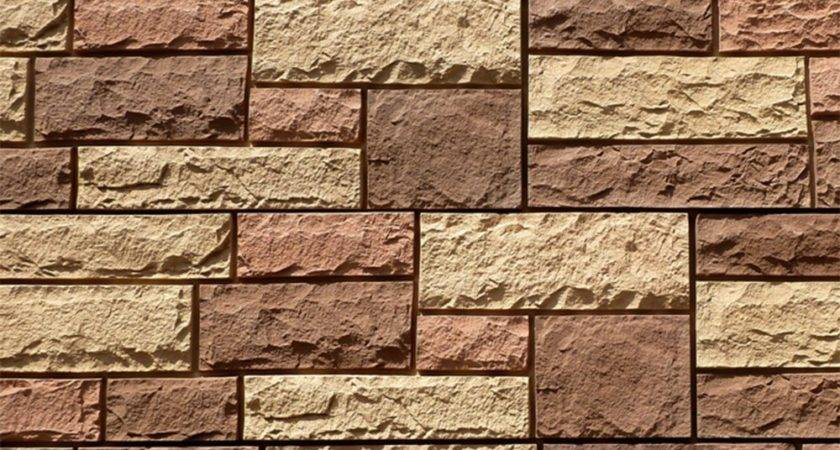 Stoneworks Faux Stone Siding Limestone Flagstaff Red