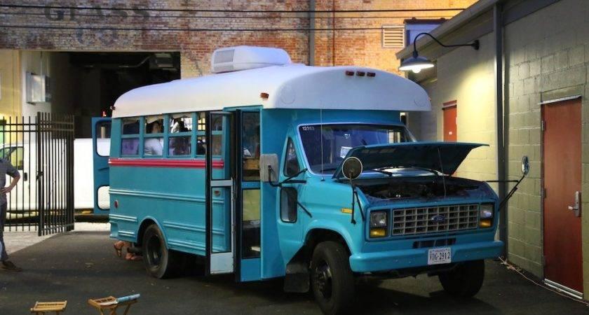 Students Convert Short Bus Into Diy Motorhome